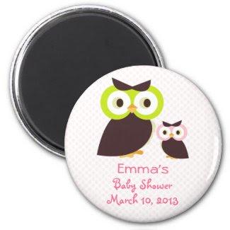 Owl Baby Shower Magnet