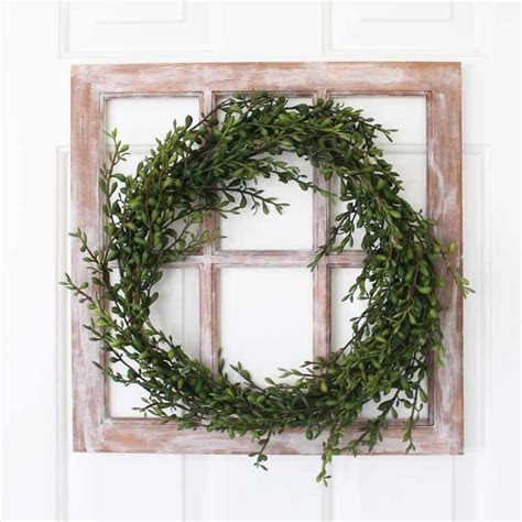 Farmhouse Wreath DIY Window Decoration   Darice