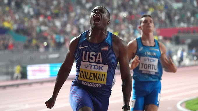 USA's 100-meter world champ Christian Coleman banned for two years after missing tests