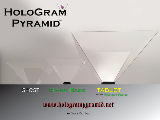 "HoloGram Pyramid™ ***Tablet version & ""Magic Base"" Phone*** by Yatz Co, Inc. —Kickstarter"