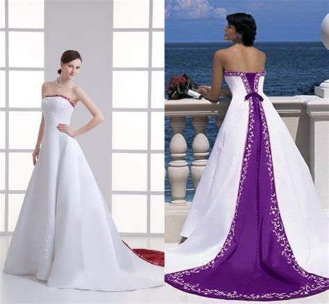 Amazing White and Purple Wedding Dresses   LadyStyle