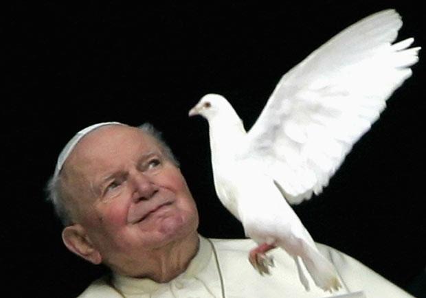 O Papa João Paulo II em 30 de janeiro de 2005 no Vaticano (Foto: Reuters)