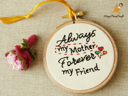 Mother's Day Gift Gift For Mom Embroidery For by happyfacecraft