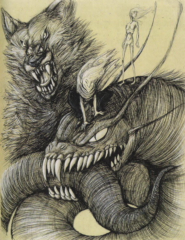 Iormungand, Fenrir, Hel et Loki