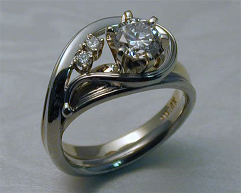 Unique handcrafted engagement ring enhancer set