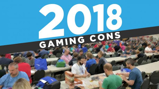 2018 Tabletop Gaming Conventions Map