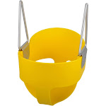 Swing Set Stuff Inc. High Back Full Bucket Swing Seat with Large Safety Triangles Green Blue Yellow Red and Pink