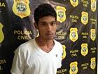 Suspeito de assalto nega crime (Aline Nascimento/G1)