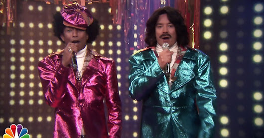 Pharrell and Jimmy Fallon introduce their '80s soul doppelgängers