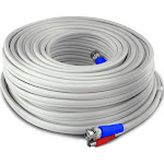 Swann SWPRO-30MTVF-GL Fire-Rated BNC Video/ Power Extension Cable, White, 100'
