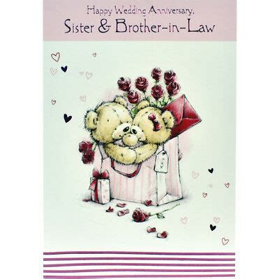 WEDDING ANNIVERSARY CARD   Sister and Brother in Law