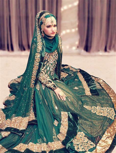 South Asian Bride, wearing the head scarf, hijabi bride
