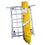 R&B Wire Products 414KD-ANTI 14 Bushel UPS-FEDEx -ABLE Vinyl Basket Truck with Antimicrobial Liner