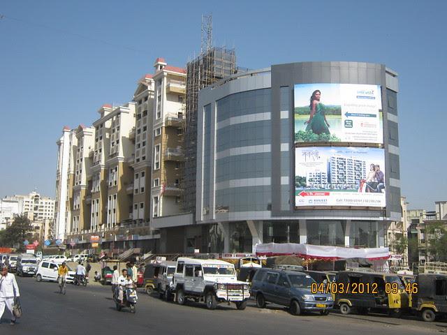 Hoarding at Katraj Junction - Visit Shri SiddhiVinayak Manswi, 2 BHK & 3 BHK Flats at Ambegaon Budruk, Pune 411046