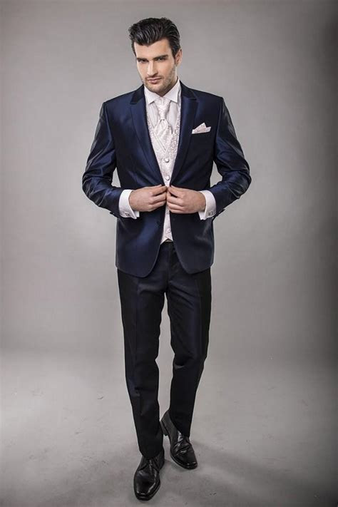 New Arrival 2015 New Slit Front Lapel Groom Tuxedos