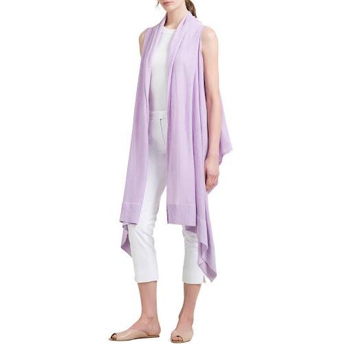 Donna Karan Womens Linen Sleeveless Cardigan Sweater D8DX0197