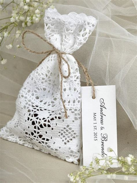 Custom Listing (20) White Lace Wedding Favor Bag ,Lace
