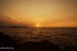 Senja di Pantai Marina Semarang