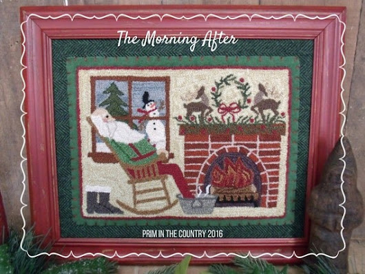 The Morning After Punch Needle Pattern by PrimInTheCountry on Etsy