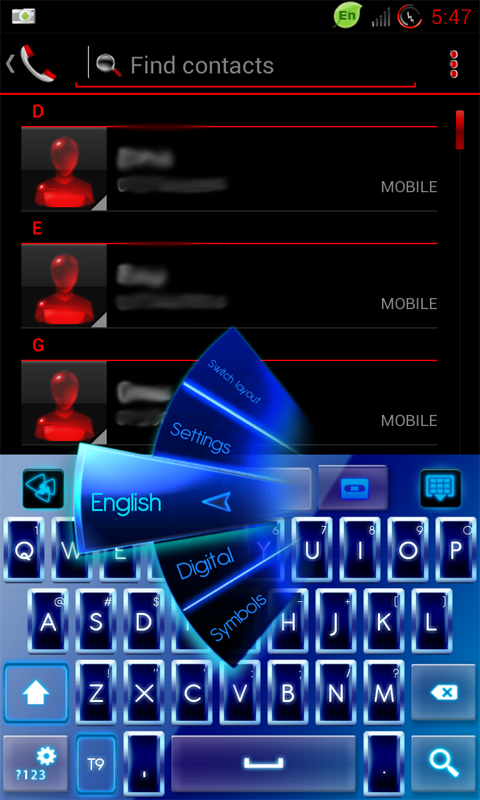 Go keyboard neon theme 3. 0 apk android app download free.