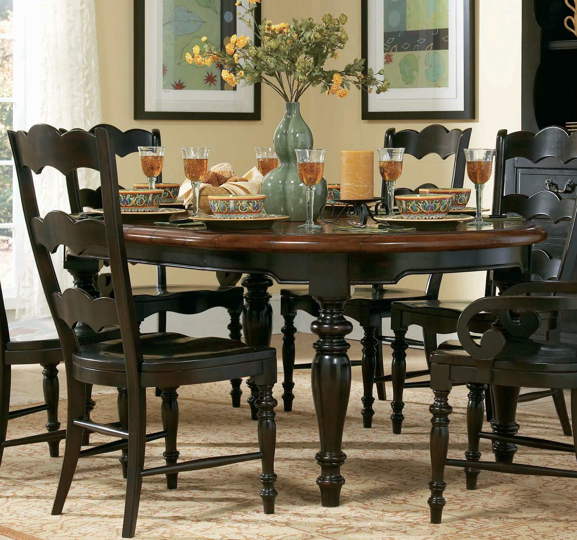 Hooker Furniture 495-75-200 - Centre Street Round Dining Table