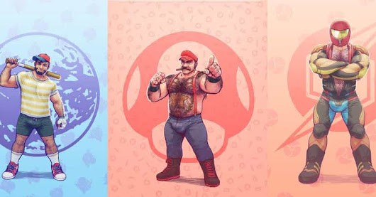 This Artist Drew A Bunch Of Super Smash Bros. Characters As Gay Men