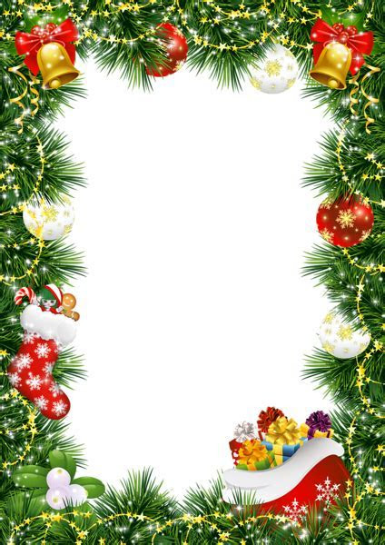 Christmas Photo Frame with Christmas Ornaments   Gallery