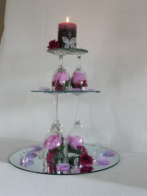 43 best Wine glass centerpieces images on Pinterest   Wine