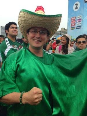 Mexicano Francisco Padilla vive sua terceira Copa do Mundo (Foto: Fernanda Canofre/G1)