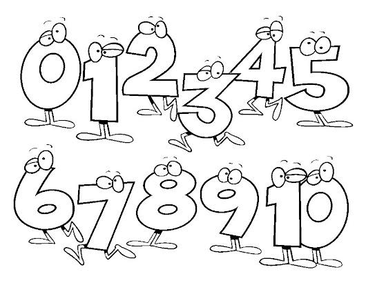 Dibujos de números para imprimir y colorear gratis :
