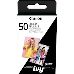 "Canon 2 x 3"" ZINK Photo Paper for CLIQ - 50 Sheets (3215C001 / ZP-2030-50 / ZP203050)"