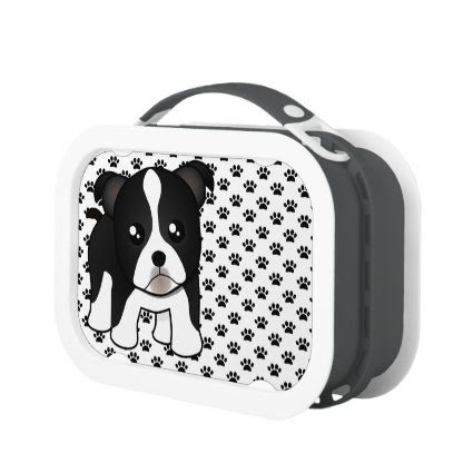 Cute Boston Terrier Puppy Dog Cartoon Animal Lunchbox