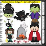 Fright Night Layered Templates