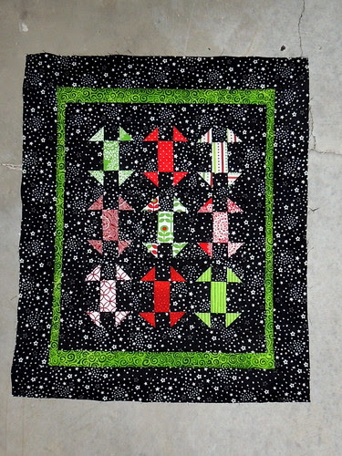 Starry Skies and Churn Dashes Doll Quilt
