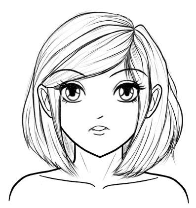 draw manga faces step  step   beginner