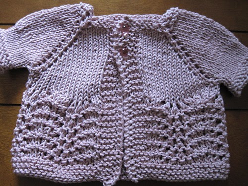 Knitting Patterns Baby Sweaters Top Down : Knitting Like Crazy: A Baby Sweater