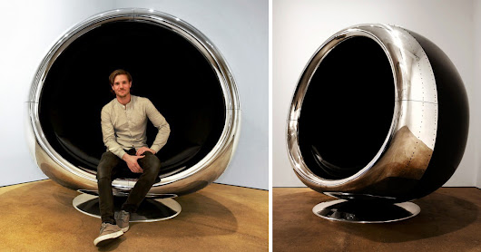 A Repurposed Boeing 737 Engine Cowling Makes a Fantastic... Chair