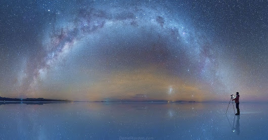 Photographer Captures the Milky Way Mirrored on Flooded Salt Flats