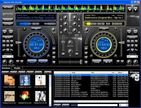 gemini groove professional pc mixing software pro edition