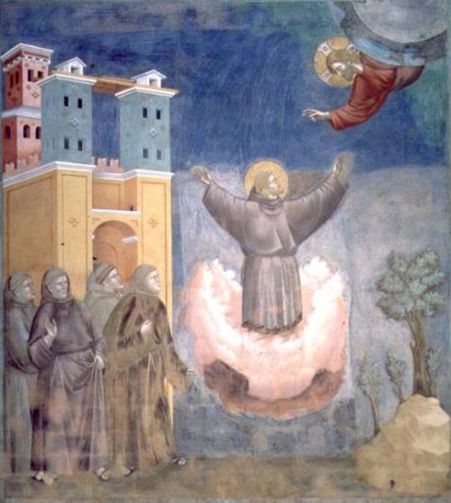 """ Cura saliendo de la tarta en el cumpleaños de Jesús "" (Il aniversari picantoni dil cappo celestialli) Giotto"