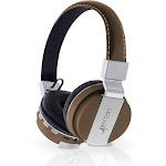 Aduro Pop Soul Leather Wireless Headphones Brown