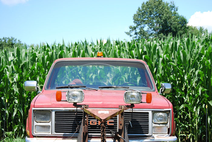 GMC pickup truck in southern Vermont