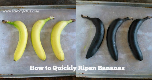 How to Quickly Ripen Bananas -