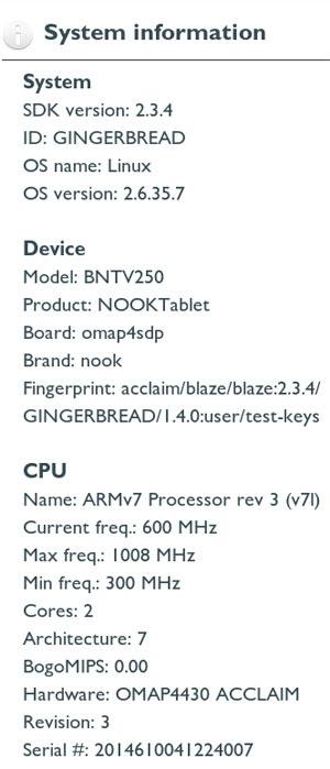 Скриншот Nook Tablet