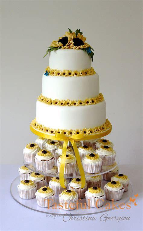 Tasteful Cakes By Christina Georgiou   A Sunflower Wedding