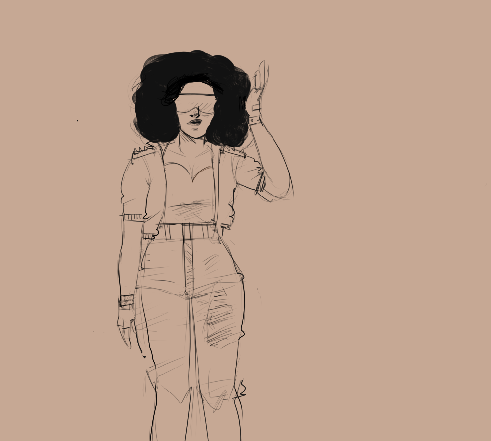 "doodles from a stream few days ago 1) Hipsterish Garnet 2) Another take at ""I wanna slow dance with you"""