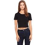 Bella + Canvas Ladies' Poly-Cotton Crop T-Shirt - 6681 - Black