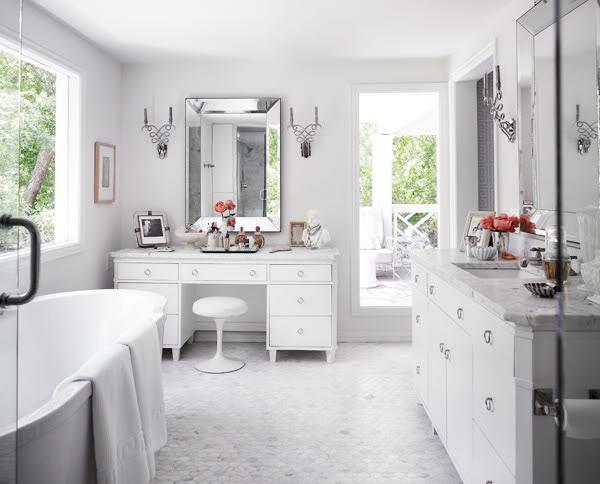 Beveled Mirror - Transitional - bathroom - Martensen Jones Interiors