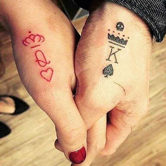 Queen King Matching Tattoos For Couples That Truly Mean Forever