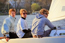 J/22 sailing team in Hamburg, Germany